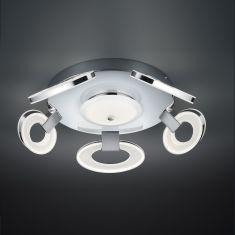 LED-Deckenleuchte in Chrom, 6 x 7Watt LED, dimmfähig
