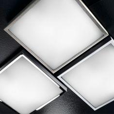 LED-Deckenleuchte 30 x 30 cm, LED warmweiß, 3 Farben