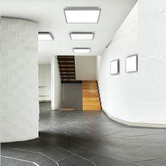 LED-Deckenleuchte für Ein- und Aufbau, 60 x 60 cm