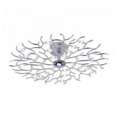 LED-Deckenleuchte Florian rund 80 cm, Chrom