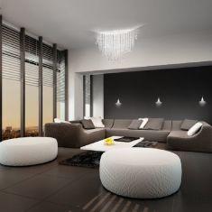 LED-Deckenleuchte Fonte di Luce weiß