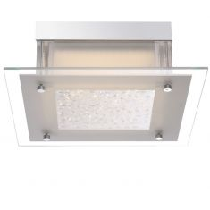 LED-Deckenleuchte Leah eckig, funkelnde Kristalle, 28cm x 28cm 1x 11,88 Watt, 28,00 cm, 28,00 cm
