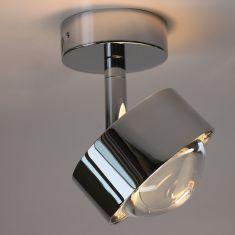 LED-Deckenleuchte Puk Turn in Chrom-matt Chrom matt