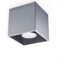 LED-Deckenleuchte Quad grau, inklusive 7 Watt