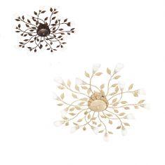 LED-Deckenleuchte Reposa in floraler Optik