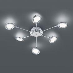 LED-Deckenleuchte Session 6-flg, veränderbare Lichtfarbe