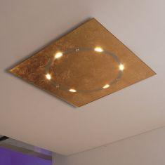 LED-Deckenleuchte Skyline in Blattgold, dimmbar