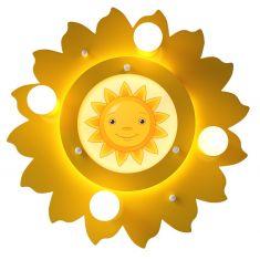 LED-Deckenleuchte in Sonnenform mit Motiv - inklusive 54 LEDs