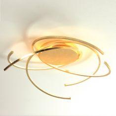 Escale LED-Deckenleuchte Space in Blattgold, 2 Größen