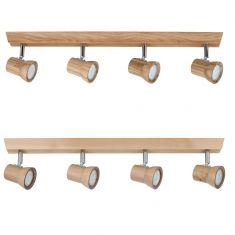 LED-Deckenleuchte Venla aus Holz, in zwei Ausführungen