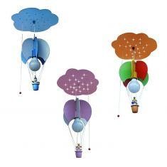 LED-Deckenleuchte Wolke mit Ballon und 3D-Figur - drei Varianten