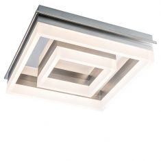 LED-Deckenleuchte, Chrom, 46 cm x 46 cm, LED 30 Watt