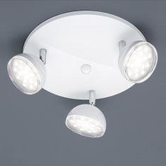 LED-Deckenstrahler rund 25 cm Kunststoff Weiß / verchromt