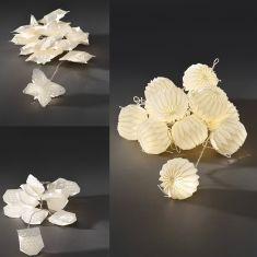 LED-Dekolichterkette für den Innenbereich - 12 warmweisse LED-Dioden - 230 V - Schmetterling, Eule oder Laterne