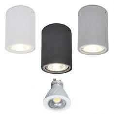 LED-Downlight aus Aluminium, 3 Oberflächen, inkl. 7W LED