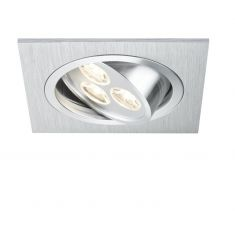LED-Einbauleuchte in Aluminium-gebürstet 3W LED 40°schwenkbar