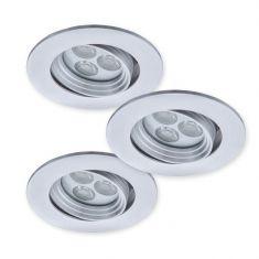 LED-Einbauspot - 3er-Set - Aluminium - Inklusive Treiber