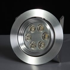 LED - Einbauspot - Aluminium - LED 6 x 1 Watt warmweiß