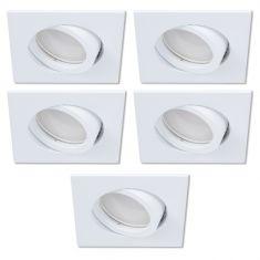 LED-Einbaustrahler als 5er-Set in Weiß 3-fach switchmo dimmbar