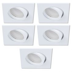 LED-Einbaustrahler als 5er-Set in Weiß 4-fach switchmo dimmbar