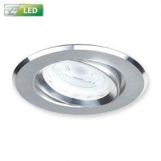 LED-Einbaustrahler Alu matt, Rund, LED 1 x GU10 5W