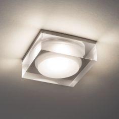 LED-Einbaustrahler aus Glas, 9,8 Watt LED dimmbar - IP44