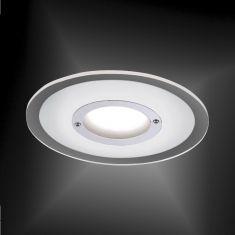 LED-Einbaustrahler in Chrom - inklusive 5,5 Watt LED - 4-stufig dimmbar
