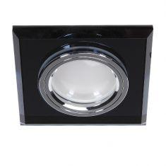 LED-Einbaustrahler Glas Schwarz  4-fach switchmo dimmbar