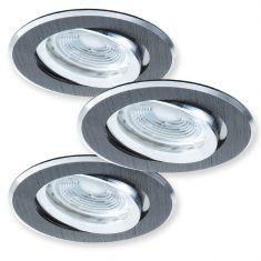 LED-Einbaustrahler Gwen  Decke - 3er-Set - Metall
