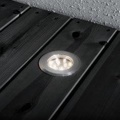 LED-Einbaustrahler-Set, Mini Led 3er Set, 12 LEDs pro Kopf, Edelstahl