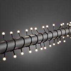 LED-Globelichterkette 160 runde Dioden, 8 Funktionen, warm weiß warmweiß
