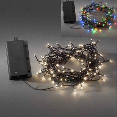 LED - Globelichterkette - 120 Dioden - Für den Außenbereich - Batteriebetrieben - Mit Lichtsensor und 6h bzw. 9h Timer - 2 Farben