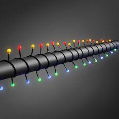 LED - Globelichterkette - 160 runde Dioden - 24V Außentrafo - 8 Funktionen - Steuergerät und Memoryfunktion - bunt bunt
