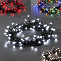 LED - Globelichterkette - 160 runde Dioden - 24V Außentrafo - 8 Funktionen - Steuergerät und Memoryfunktion - 4 Farben