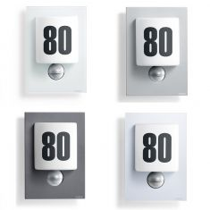 LED-Hausnummernleuchte, Opalglas mit Klebenummern