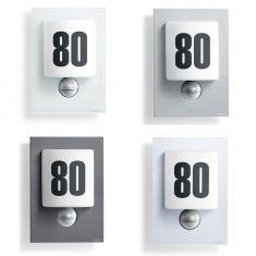 LED-Hausnummernleuchte, Opalglas mit Klebenummern, in 4 Versionen