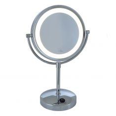 LED-Kosmetikspiegel Batteriebetrieben mit 5-fach-Vergrößerung
