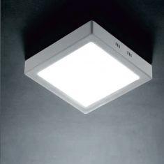 LED-Leuchte - für Wand oder Decke - Nickel matt - Weiß verschiedene Größen, 3000K