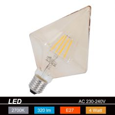 LED-Leuchtmittel E27 4W, braun-getönt, Länge 17 cm Filament