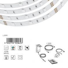LED-Lichtband mit Farbwechsel - inklusive 60 LEDs und Fernbedienung - 2 m