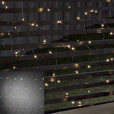 LED - Lichternetz - 80 Dioden - Batteriebetrieben - Außen - Mit Lichtsensor und 6h und 9h Timer - warmweiß oder bunt
