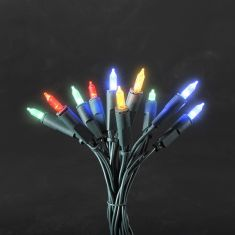 LED-Minilichterkette für den Innenbereich - 10 LED-Dioden - 230 V - Grünes Kabel - bunt bunt