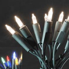 LED-Minilichterkette für den Innenbereich - 35 LED-Dioden - 230 V - Grünes Kabel - warmweiss oder bunt