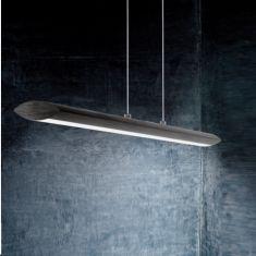 LED-Pendelleuchte in Alu-schwarz, Touchdimmer, Länge 110cm