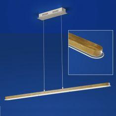 LED-Pendelleuchte Carl mit Eichenholz von B-Leuchten