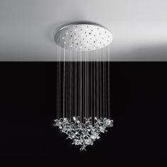 LED-Pendelleuchte 78 cm, Blüten, 18-flammig
