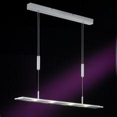 LED-Pendelleuchte inklusive 4 x 4 Watt, in Nickel-matt