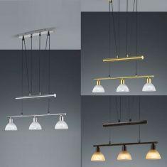 LED-Pendelleuchte Levisto, 3-flg., höhenverstellbar, 2 Oberflächen