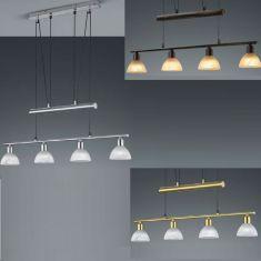 LED-Pendelleuchte Levisto, 4-flg. höhenverstellbar, 3 Oberflächen