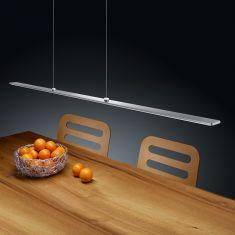 LED-Pendelleuchte Lexx in Nickel-matt, höhenverstellbar